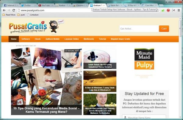Memecah Tab Browser Chrome Dengan Tab Scissors
