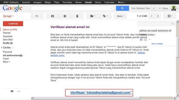 Tips Menggabungkan Inbox Email Lintas Akun - Part #3
