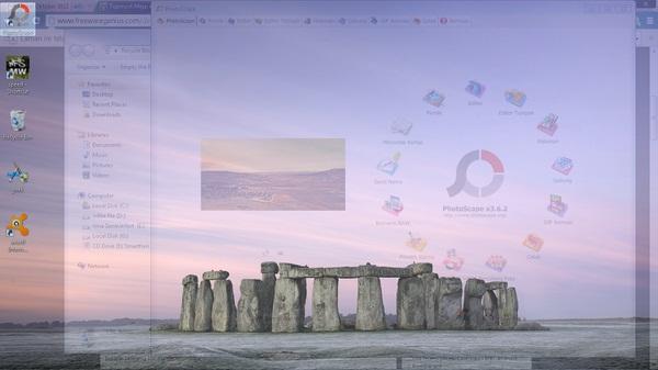 Mengakses Desktop Tanpa Meminimize Window yang Aktif Dengan Topmost