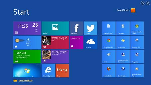 WinMetro: Ubah Tampilan Windows menjadi Windows 8 Dengan Mudah