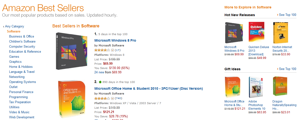 Windows 8 Menjadi Best Seller di Amazon