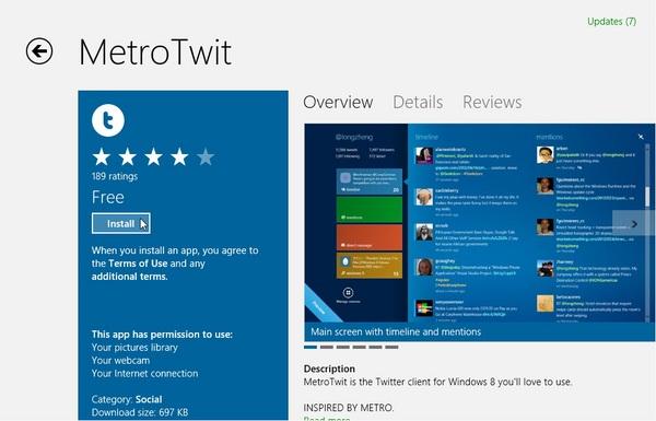 Cara Mencari, Menginstall dan Menguninstall Aplikasi di Windows 8
