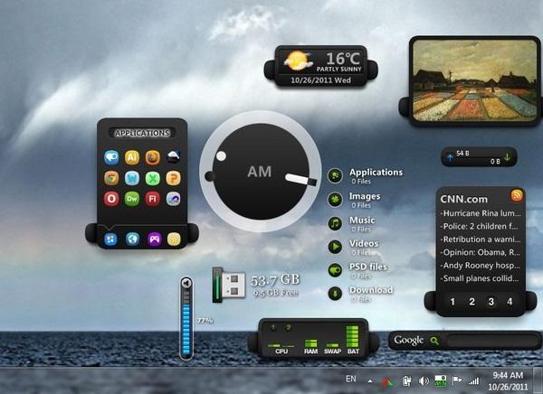 Dapatkan Widgets Stylish Untuk Desktop Windows dengan XWidgets