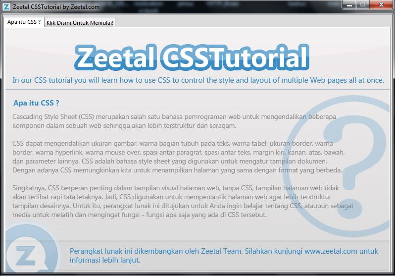 Belajar CSS Dengan Zeetal CSS Tutorial