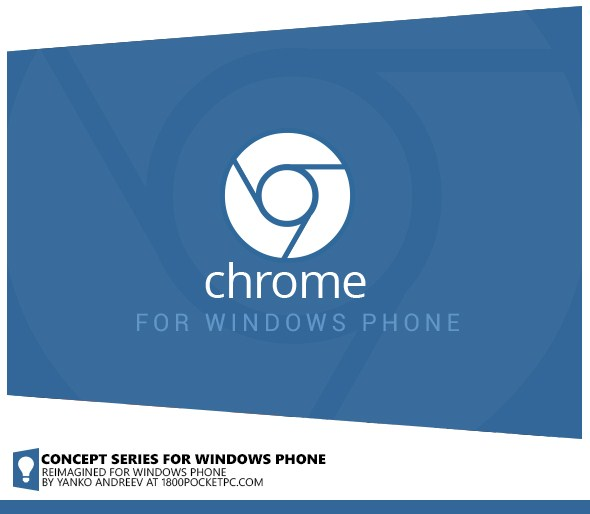 Konsep Google Chrome untuk Windows Phone 8