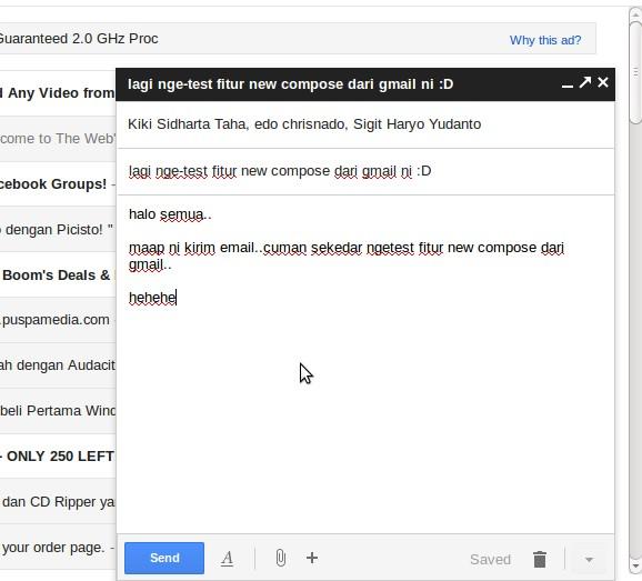 Mengirim Email di Gmail Kini Bisa Lebih Cepat dengan Fitur Compose Baru Lho!