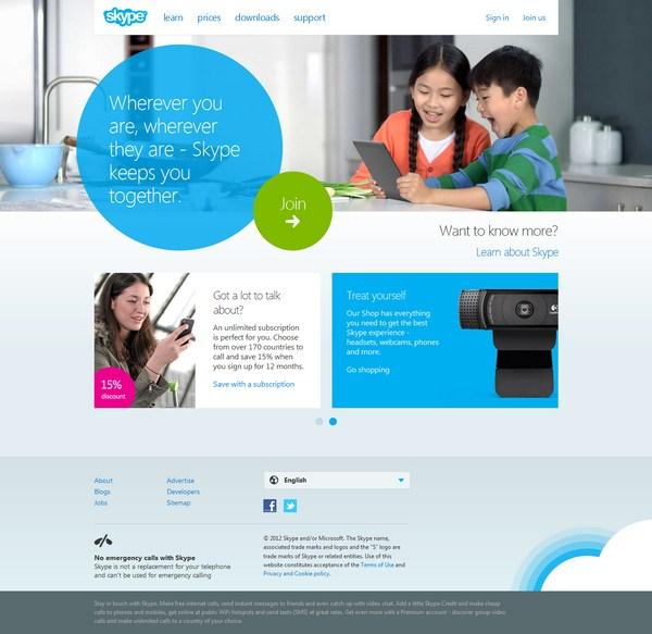 Microsoft Mendesain Ulang Website Skype Beta