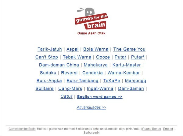 """Ayo Asah Otak dengan Aneka Permainan di """"Game Asah Otak""""!"""