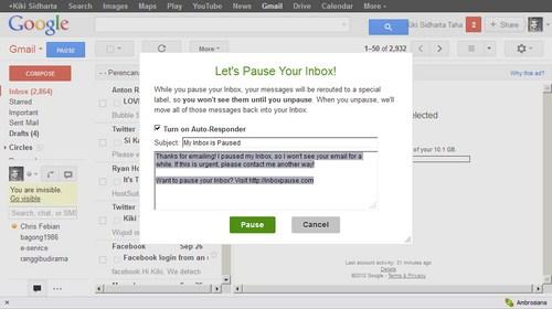 Menghentikan Email yang Masuk ke Akun Gmail dengan Inbox Pause