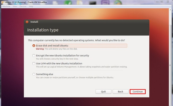 Cara Menginstall Ubuntu 12.10 di VirtualBox Windows