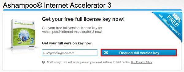 Dapatkan Lisensi Legal Ashampoo Internet Accelerator