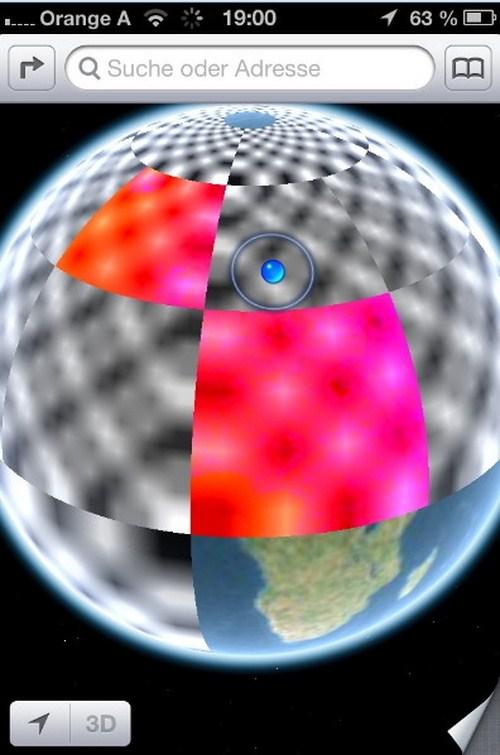 Planet Bumi, dilihat dari Apple Maps.