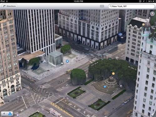 Apple Store di New York malah tampak seperti batu keras di tengah kota.
