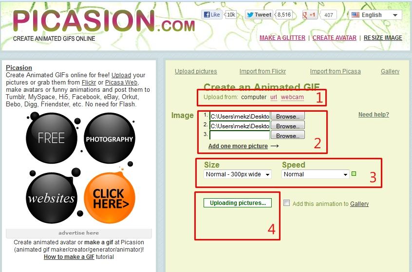 Picasion : Cara Mudah Membuat Gambar Animasi GIF secara Online