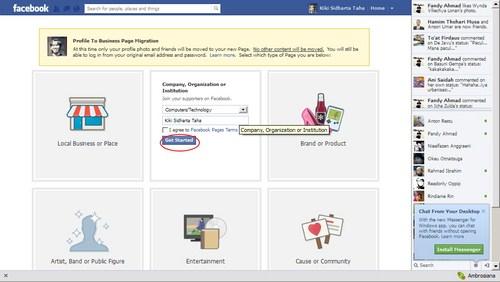 Cara Mengubah Akun Profil Facebook Kamu Menjadi Fanpage