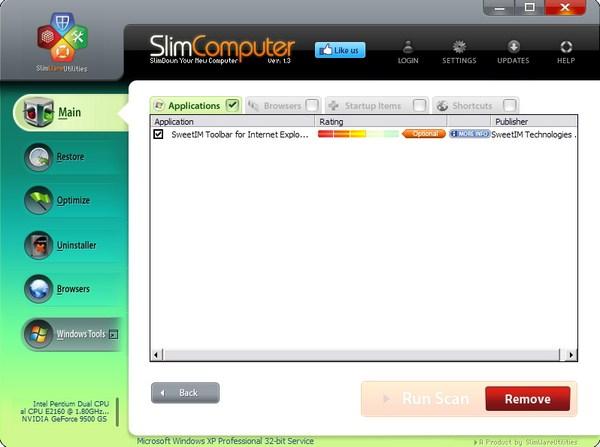 """Menghapus Software """"Sampah"""" dengan SlimComputer"""
