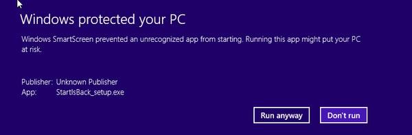 Klik Run Anyway Jika Muncul Alert Saat Instalasi