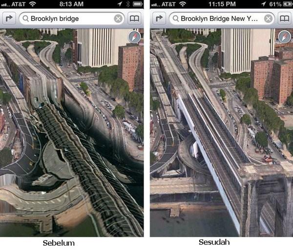 Akhirnya Kekacauan di Apple Maps Diperbaiki Juga