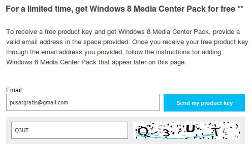 Microsoft Menggratiskan Windows 8 Media Center Pack