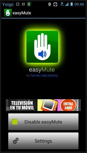 Mute Volume Ponsel Hanya Dengan Sentuhan Tangan Menggunakan easyMute [Android]