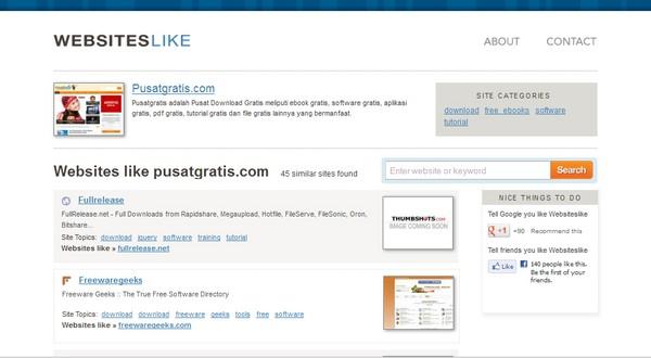 4 Layanan Web untuk Menemukan Situs yang Sama Dengan Situs Favorite Kamu