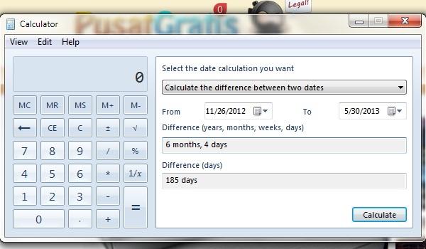 Cara Menghitung Tanggal Menggunakan Kalkulator