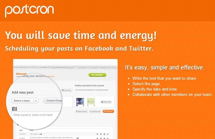 Cara Menjadwalkan Post di Facebook dan Twitter Menggunakan Postcron