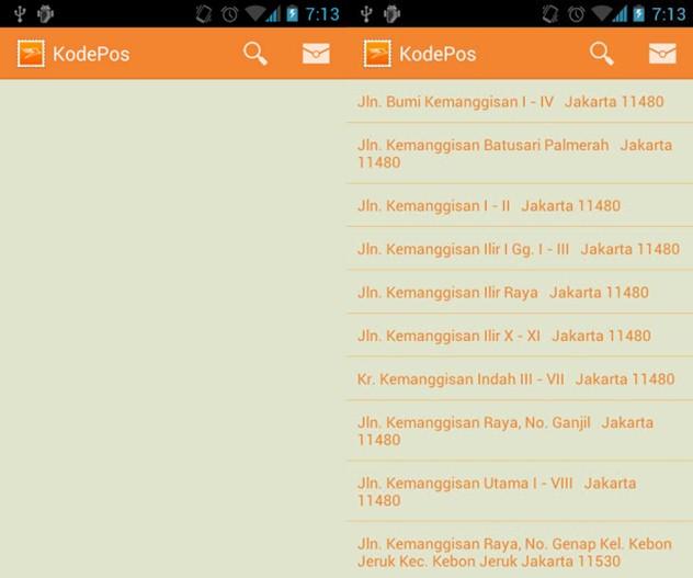 Cek Daftar Kode Pos Online Lewat Aplikasi Android