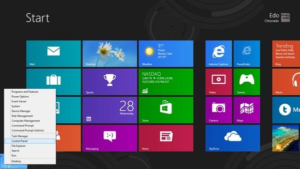 Cara Membuka Control Panel di Windows 8