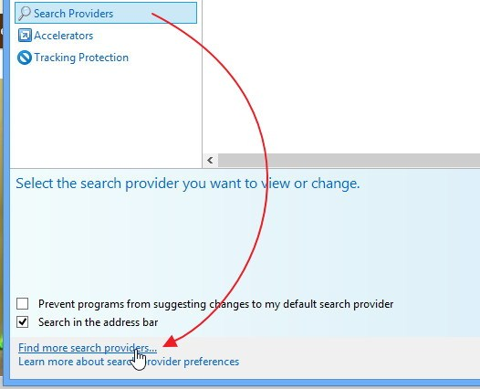 Cara Mengganti Default Search Engine pada Internet Explorer 10 di Windows 8