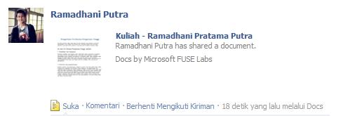 Semakin Mudah Berbagi Dokumen di Facebook dengan Docs