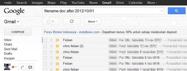 Tips Mencari Email Super Cepat di Gmail