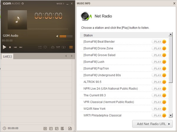GOM Music Player: Audio Player Super Ringan dengan Radio Streaming