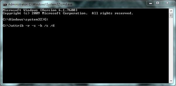 Menampilkan Folder atau File yang Tersembunyi Dengan Command Prompt
