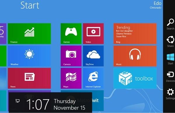 Cara Delete atau Disable History pada Search Charm Bar di Windows 8