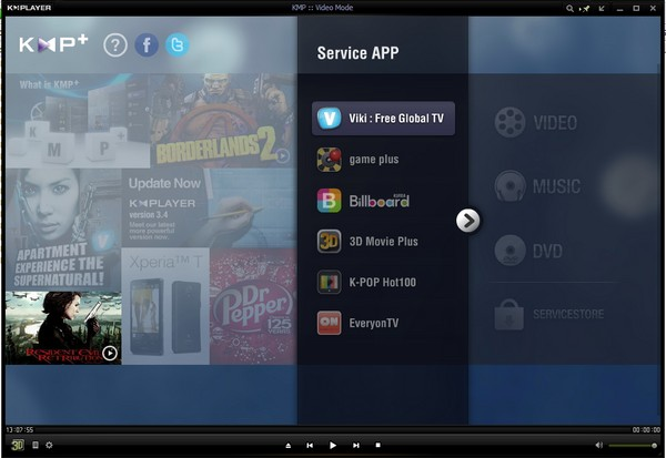 KMPlayer: Pemutar Video Ringkas dan Kaya Fitur