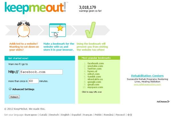 Stop Kecanduan Online Dari Situs Populer Dengan KeepMeOut