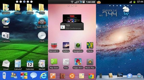 Kamu ingin Android kamu tampil cantik layaknya Windows, Linux atau Mac ...