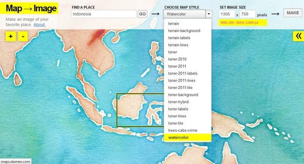 Membuat Wallpaper Berdasarkan Peta Menggunakan Map->Image