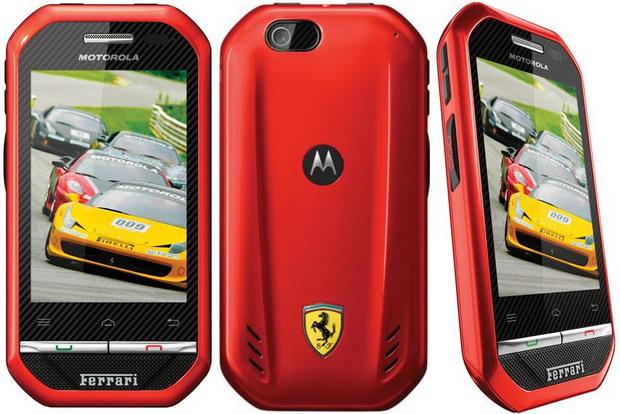 Motorola i867 Ponsel Android dengan Desain Khas Ferrari