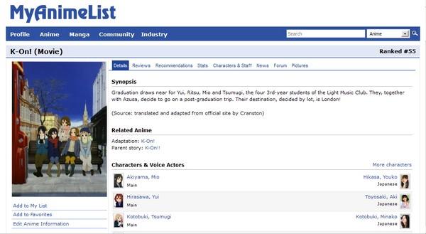 MyAnimeList: Forum untuk Penggemar Anime Seluruh Dunia Saling Berbagi