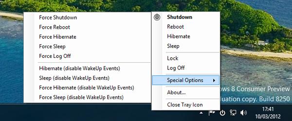 Membuat Tombol Shutdown Window 8 Berada di System Tray dengan NPower Tray