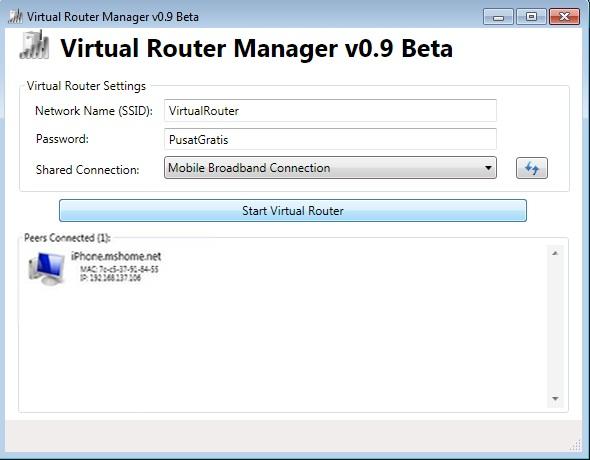 Virtual Router Manager: Menjadikan Laptop Untuk Hotspot