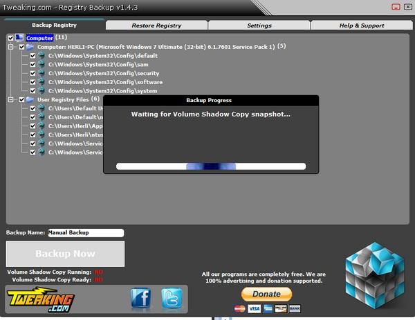 Cara Mudah Backup dan Restore Windows Registri