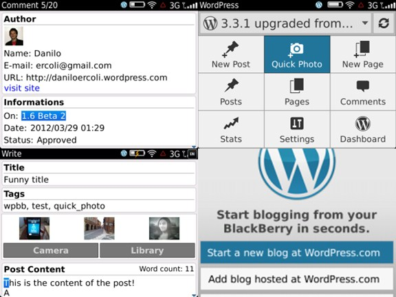 WordPress for BlackBerry : Ngeblog di BlackBerry Semakin Gampang