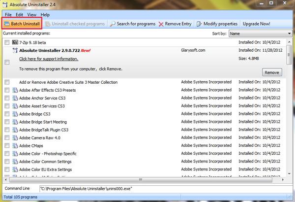 Semakin Mudah Menguninstall Banyak Software Sekaligus dengan Absolute Uninstaller
