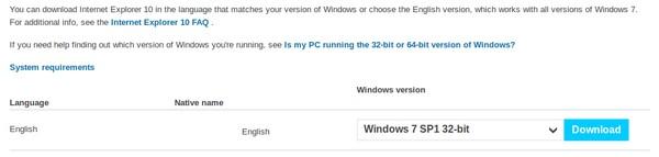 Download Internet Explorer 10 Untuk Windows 7 Pusat Gratis