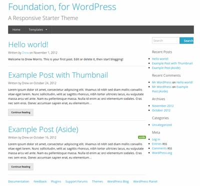 10 WordPress Theme Starter Gratis Terbaik