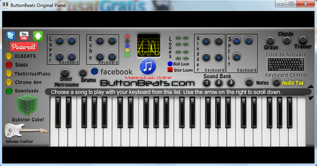 Bermain Piano secara Virtual di Komputer dengan ButtonBeats Virtual Piano