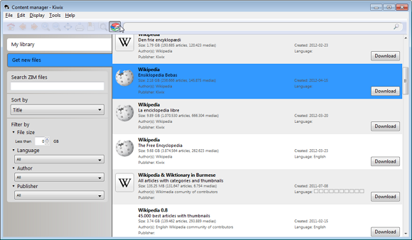 Cara Membaca Artikel di Wikipedia Secara Offline dengan Menggunakan Kiwix